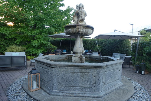 Belvedere's 19th century fountain Fountain. From History Comes Alive at Locarno's Belvedere Hotel