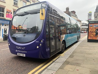 Arriva North East Sapphire Streetlite 1610 seen here in Darlington whilst in between journeys on the X1/1/5/5A