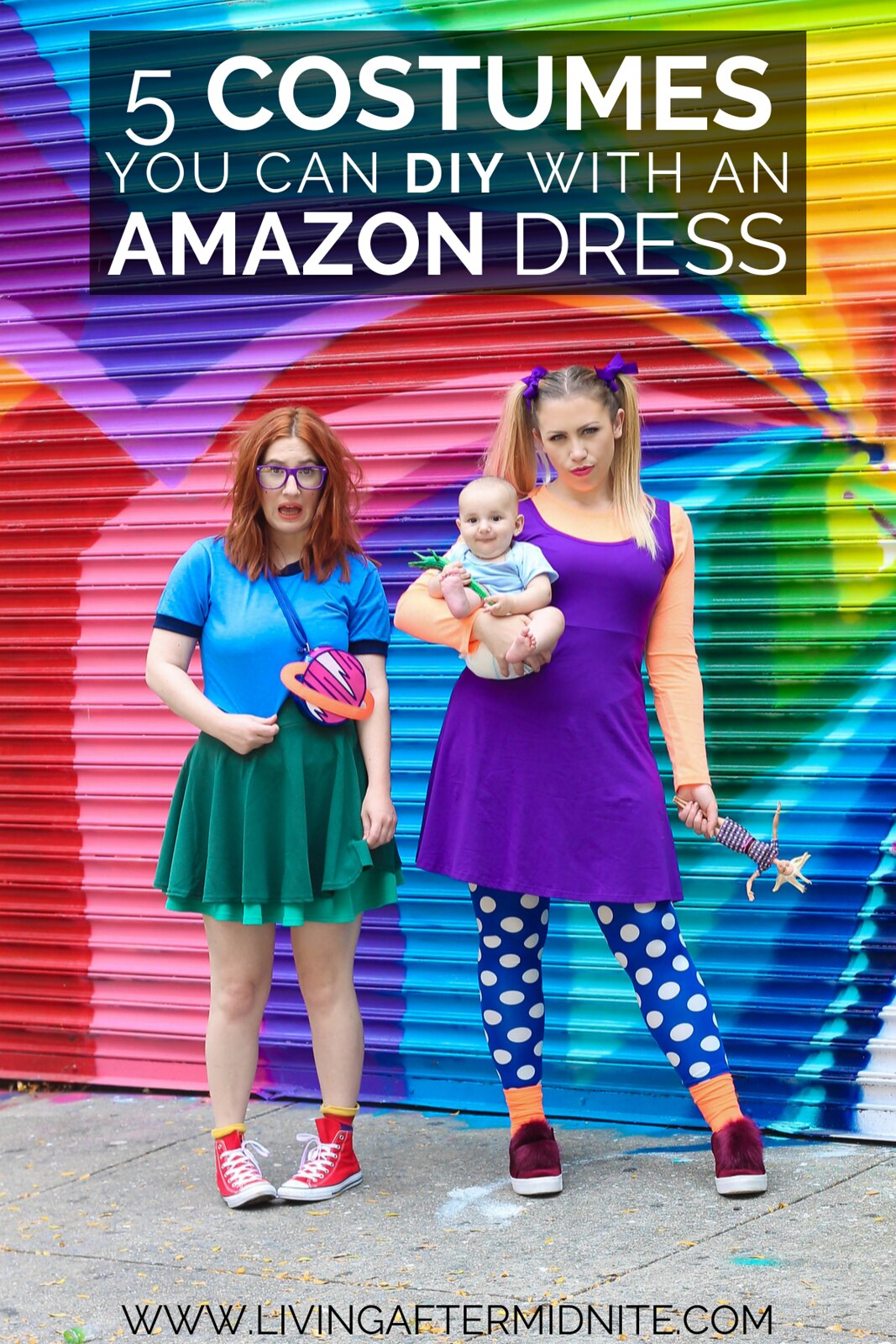 Rugrats Angelica Chuckie Tommy Pickles Costume Nickelodeon | 5 Costumes You Can DIY with an Amazon Dress | Easy DIY Halloween Costumes