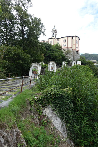 Steps leading to Madonna del Sasso. From History Comes Alive at Locarno's Belvedere Hotel