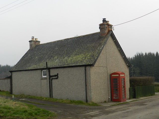 Red Telephone Box, Knockbain, Black Isle, Feb 2019