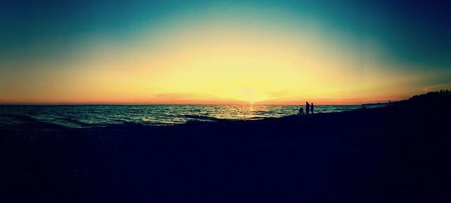 Sunset over Bradenton Beach