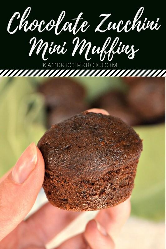 Chocolate Zucchini Mini Muffins