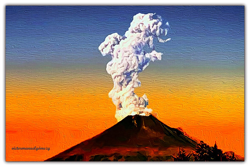 VOLCANO POPOCATEPETL IN AUTUMN.