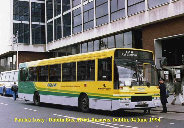 Dublin Bus, 'AD Class' (70), DAF SB220, Alexander Setanta, AD40, (94-D-3040), Busarus (Central Bus Station), Dublin, 04 June 1994