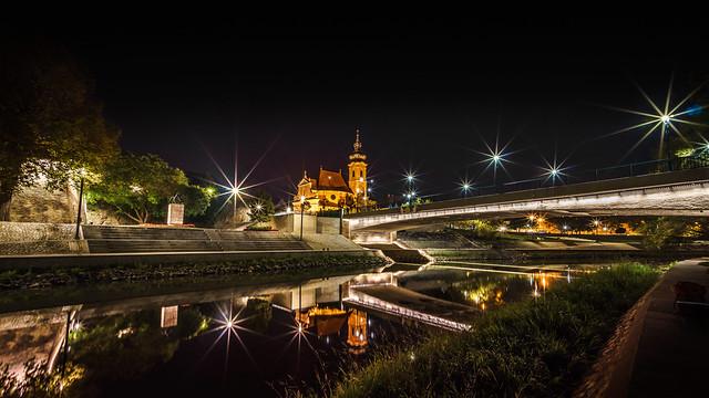 Nightscape Györ Hungary