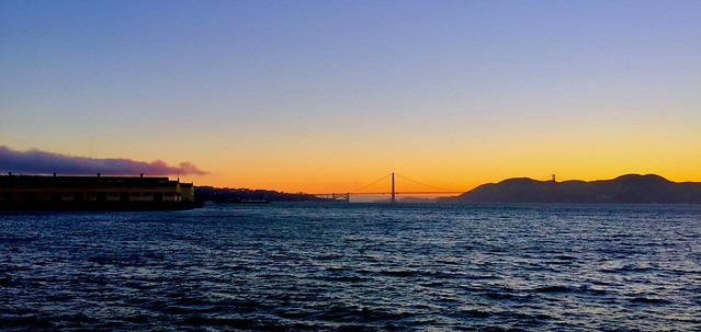 Multi-colored Sunset over San Francisco Bay
