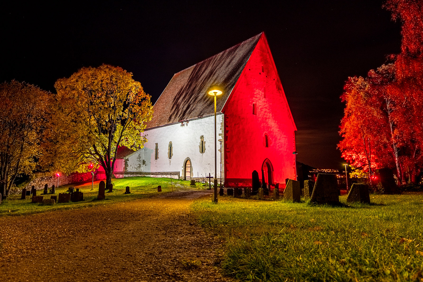 Trondenes Church Pink October Lightned