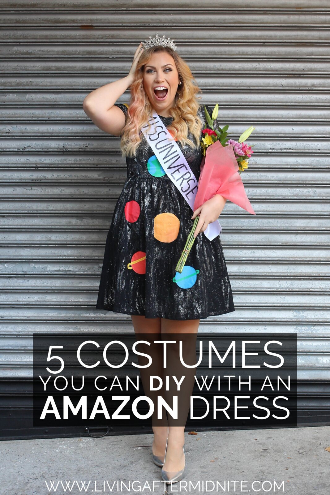 Miss Universe DIY Costume | 5 Costumes You Can DIY with an Amazon Dress | Easy DIY Halloween Costumes