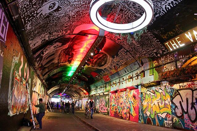 Leake Street Arches, Waterloo Station, London.