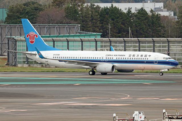 B-5739  -  Boeing 737-81B (WL)  -  China Southern  -  HND/RJTT 8/10/19