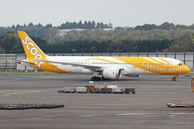 9V-OJF  -  Boeing 787-9 Dreamliner  -  Scoot  -  NRT/RJAA 8/10/19