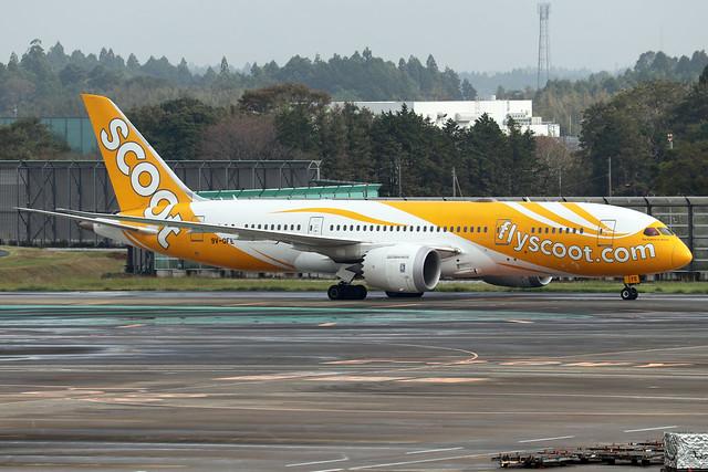 9V-OFE  -  Boeing 787-8 Dreamliner  -  Scoot  -  NRT/RJAA 8/10/19