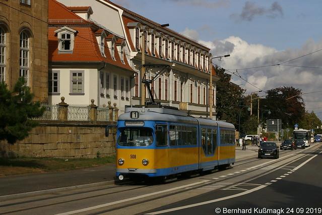 Europa, Deutschland, Thüringen, Gotha, Friedrichstraße, nahe Orangerie