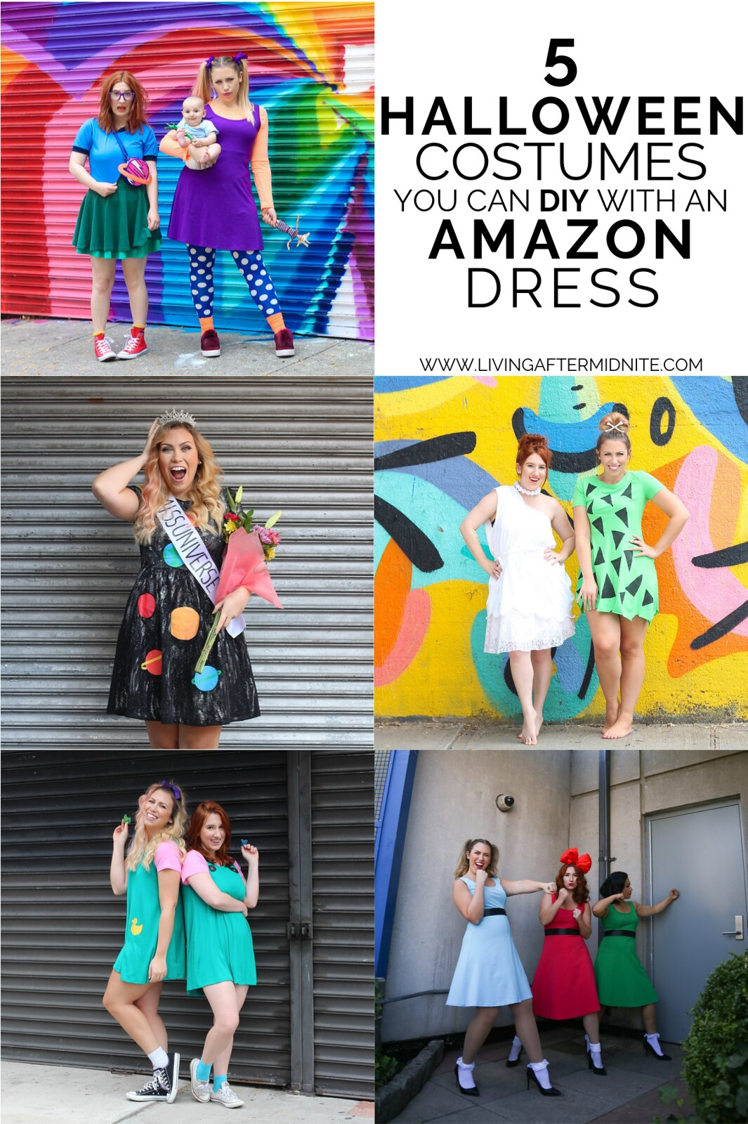 5 Costumes You Can DIY with an Amazon Dress | Easy DIY Halloween Costumes