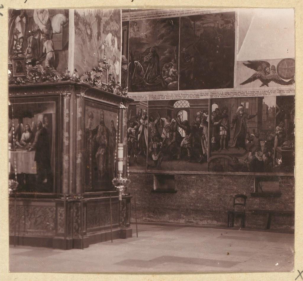 Окрестности города. Стенная живопись в Троицком соборе в Александро-Свирском монастыре