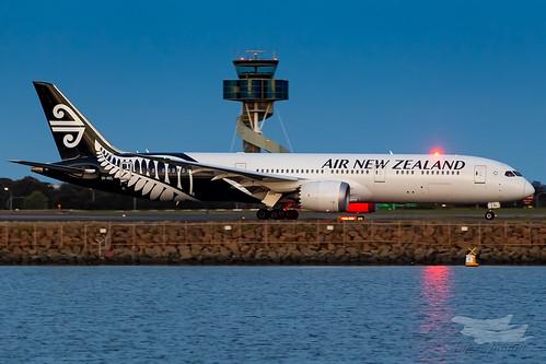 sydney newsouthwales australia airnewzealand na boeing b789 syd yssy sydneyairport
