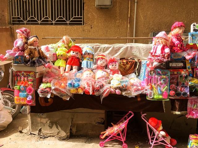 Toys stall, Aswan Souk, Egypt