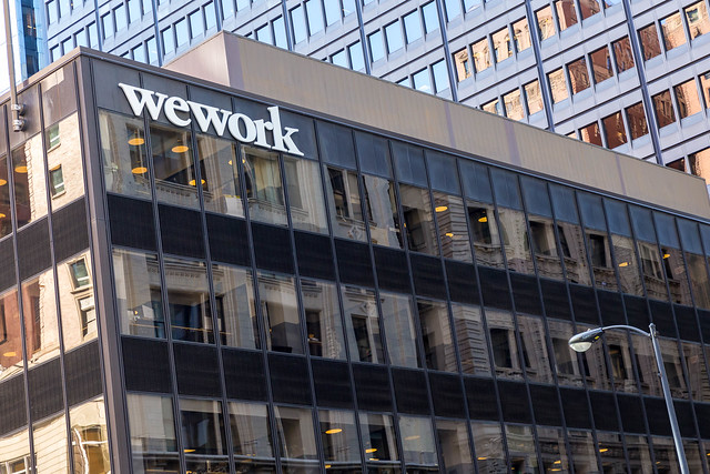 Coworking and office building run by WeWork in Downtown Chicago