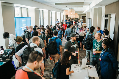 The crowd of DjangoCon 2019 attendees