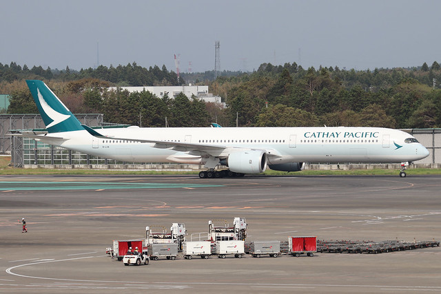 B-LXA  -  Airbus A350-1041  -  Cathay Pacific  -  NRT/RJAA 8/10/19