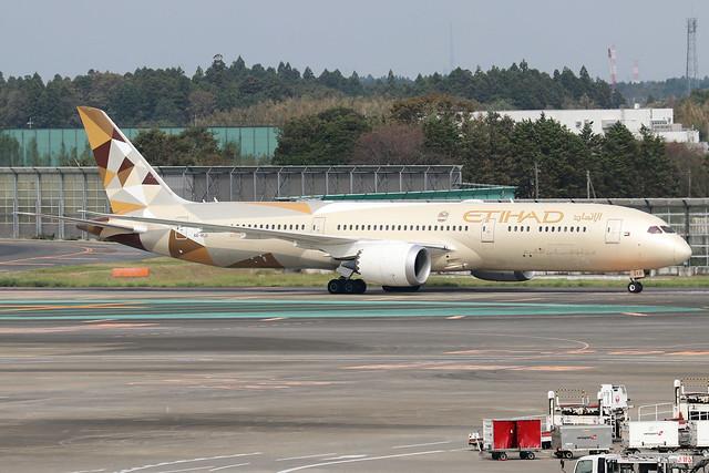 A6-BLU  -  Boeing 787-9 Dreamliner  -  Etihad Airways  -  NRT/RJAA 8/10/19