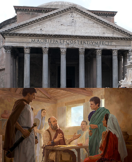 The Pantheon and Paul Under House Arrest in Rome