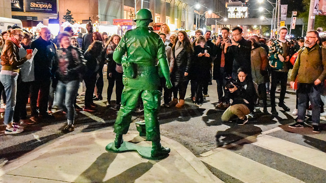Green Army Man takes advantage of a moment with  thousands