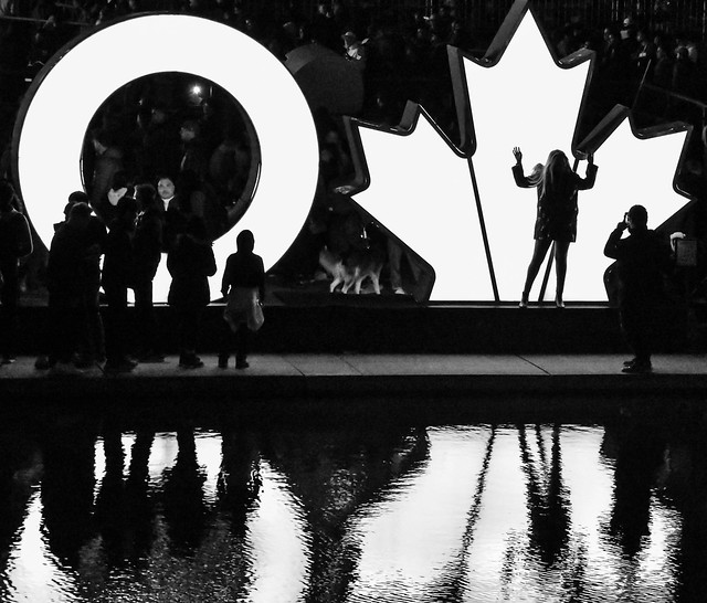 TORONTO sign silhouettes at Nuit Blanche