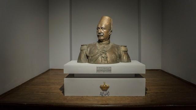 Egypt's King Fouad I's bronze bust