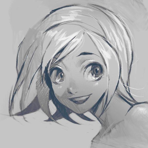 Black and White Sketch closeup 3