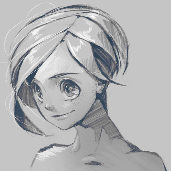 Black and White Sketch closeup 1