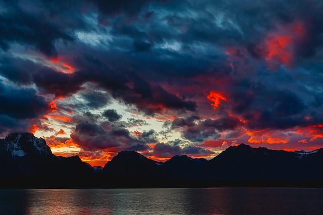 Sunset at Jackson Lake-1