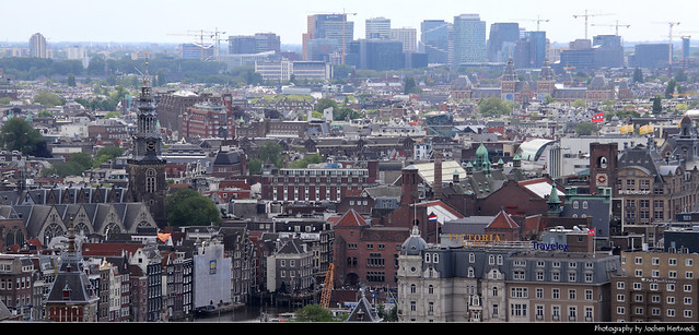 Panoramic view from A'DAM Tower, Amsterdam, Netherlands