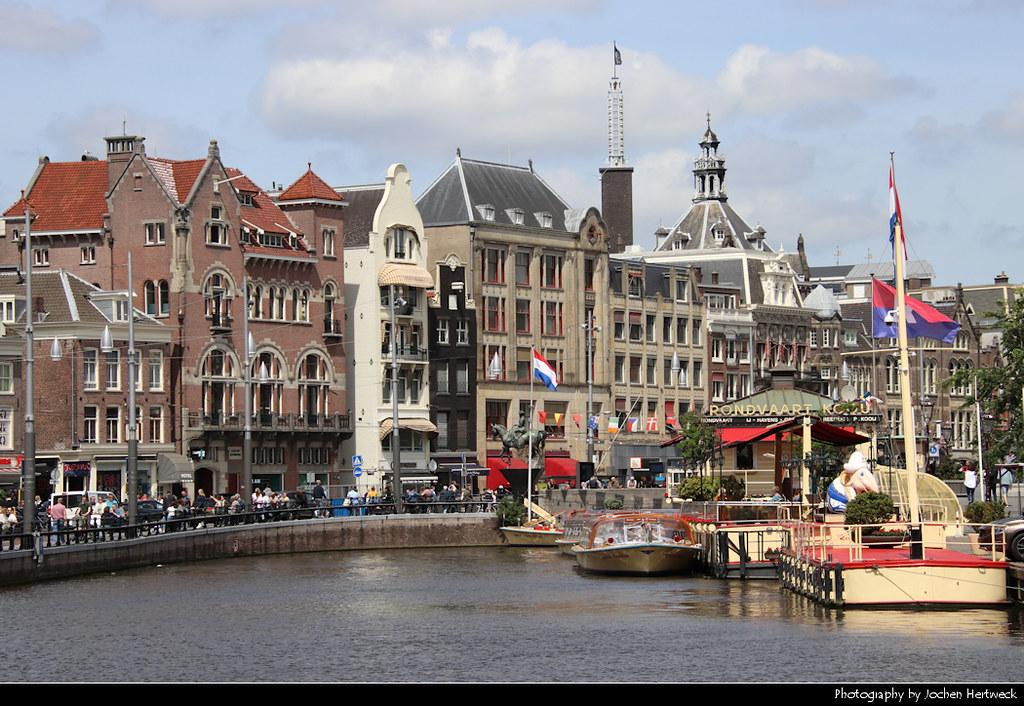 View along Rokin, Amsterdam, Netherlands
