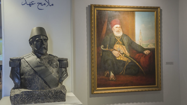 Khedive Ismail and his father Mohamed Ali Pasha in Features of an era