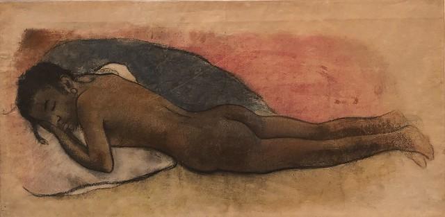 1895, Paul Gauguin, Reclining Nude [pastel]