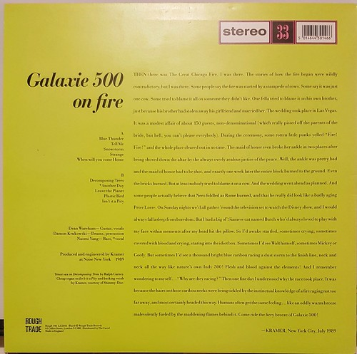 Galaxie 500 - On Fire (Rough Trade, 1989)