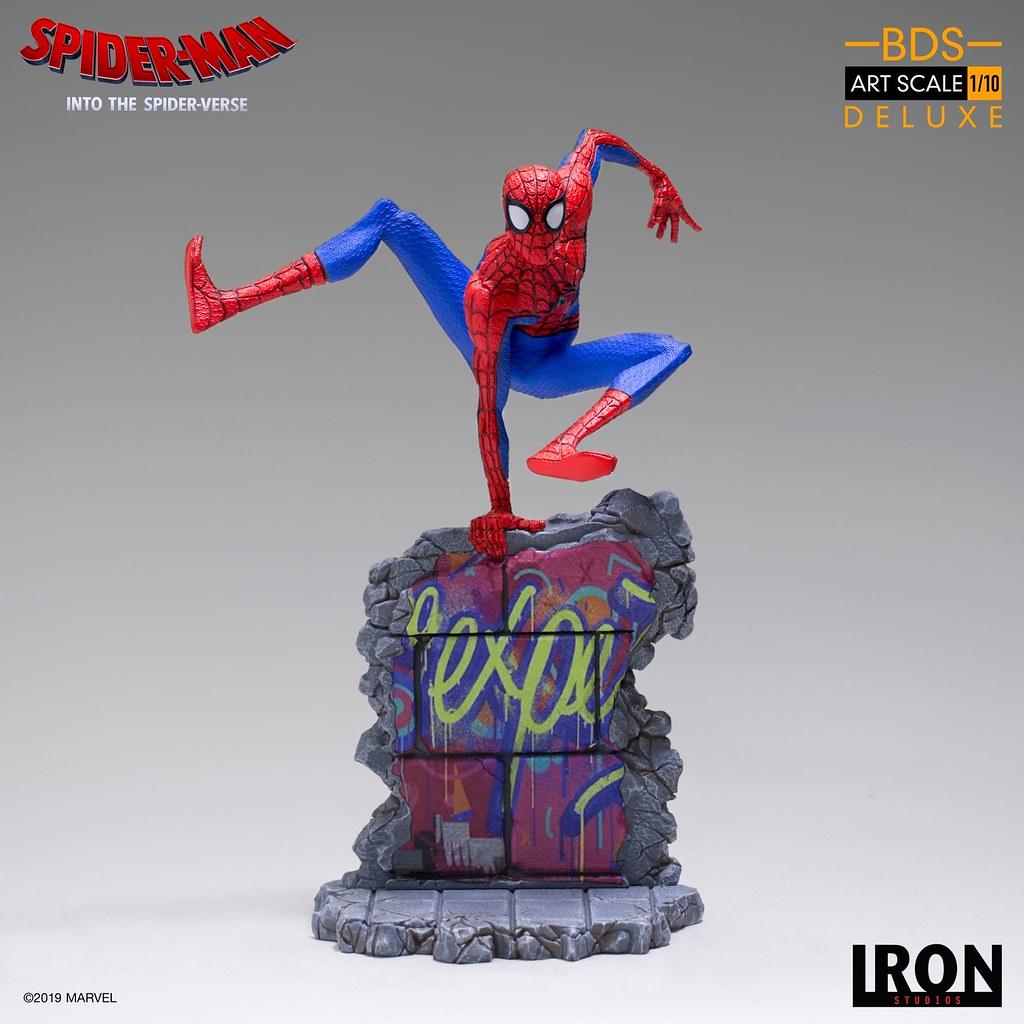 Iron Studios Battle Diorama 系列《蜘蛛人:新宇宙》彼得·B·帕克 Peter B. Parker 1/10 比例決鬥場景雕像
