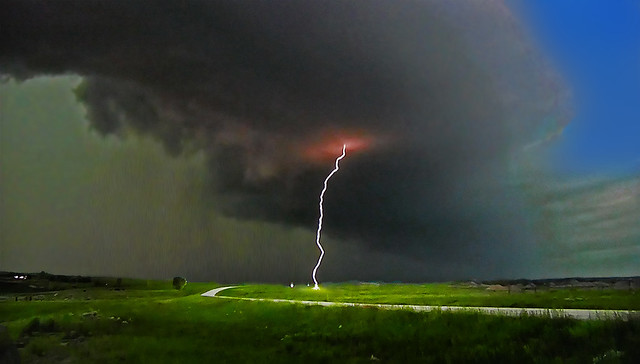 The storm is booming! Watch out for lightning bolts !!