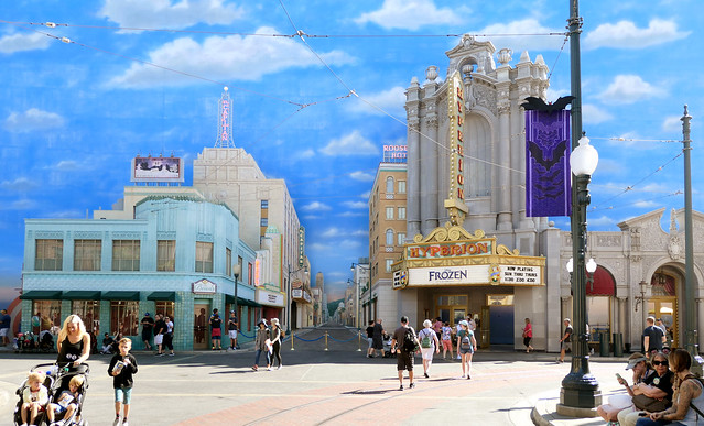 Hollywood Blvd.Disney California Adventure Park.