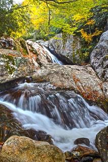 Sections of Sunburst Falls