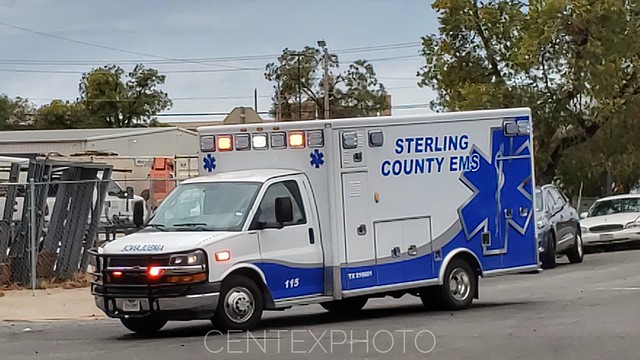 Sterling County, TX EMS Chevy Ambulance Code 3