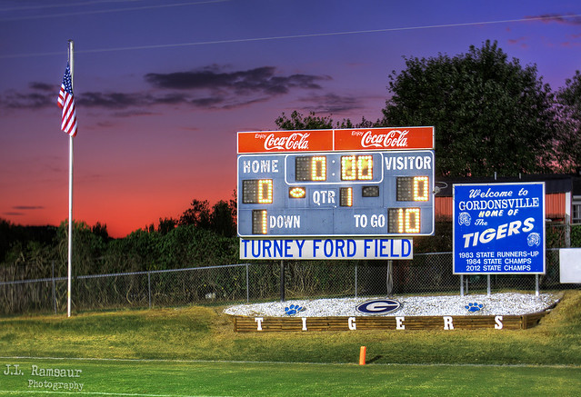Sunset at Turney Ford Field - Gordonsville, Tennessee