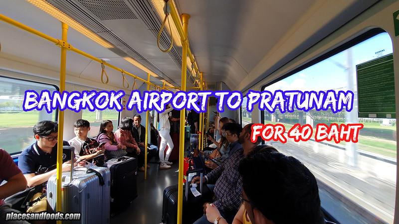 bangkok airport pratunam
