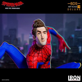 Iron Studios Battle Diorama 系列《蜘蛛人:新宇宙》彼得·B·帕克 Peter B. Parker 1/10 比例決鬥場景雕像