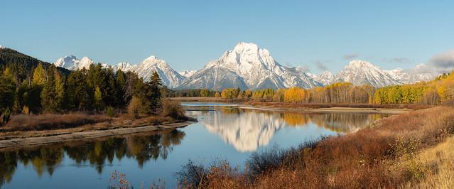 Grand Teton fall color display