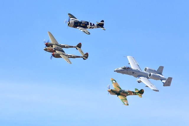 Heritage fight training, better than an airshow.