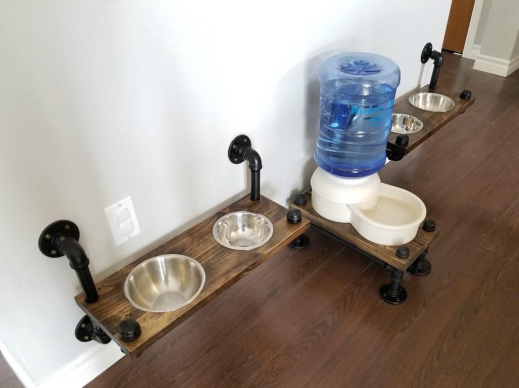 plumbing pipe dog feeders