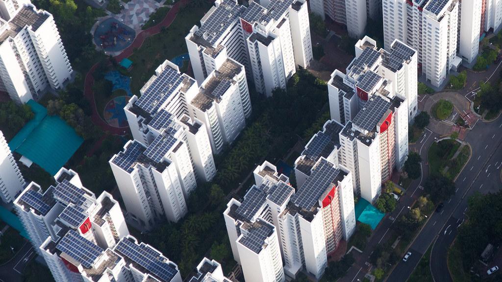 蘋果公司在新加坡的太陽能板裝置。圖片來源:Apple新聞稿